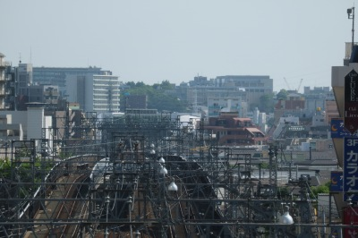 東急武蔵小杉駅から見た日吉方面