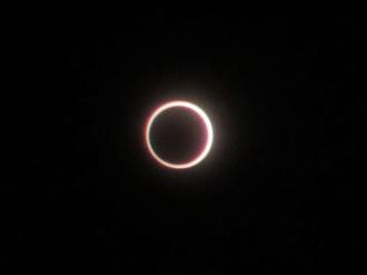 武蔵小杉で観測した金環日食