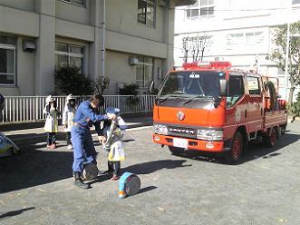 消防団のみなさんによる記念撮影