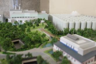 横浜工場の模型
