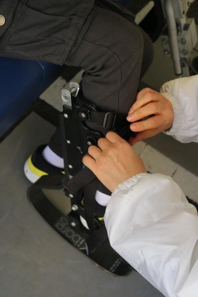 競技用義足の体験