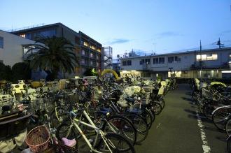盆踊り大会で集まった自転車
