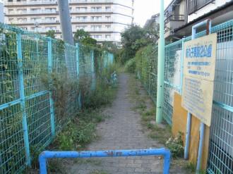 新丸子東第2公園の入口(前回エントリ時)