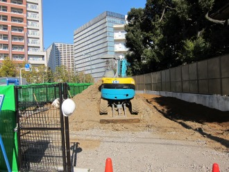(仮称)中丸子移管公園の工事