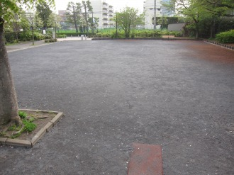 再整備された広場