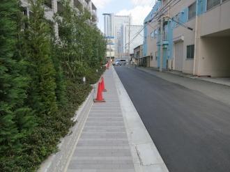 クレストフォルム武蔵小杉ブライトコート前の歩道