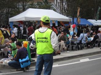 昨年のボランティアスタッフ(交通安全管理)
