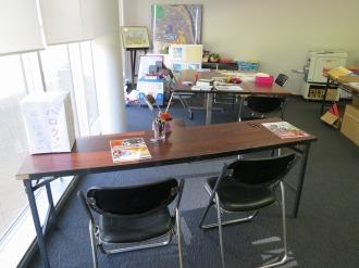 申込用のテーブル