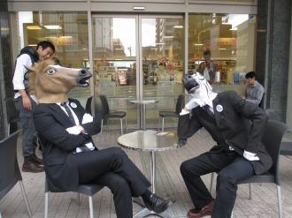 デリドで一休みするお馬さん