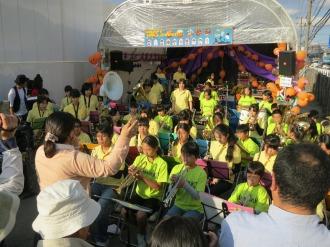 Aステージ:上丸子小学校音楽クラブ&中原中学校吹奏楽部