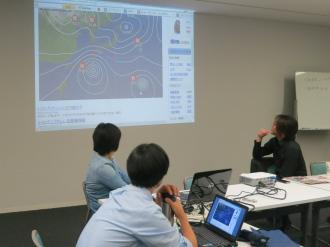 緊急ワーキング・グループでの気象情報検討