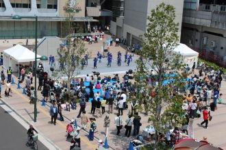 多くの人が集まったステージ