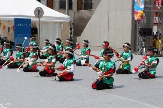 南生田小学校わくわくプラザ「銭太鼓チーム」