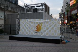 「こすぎ夏祭」のステージ