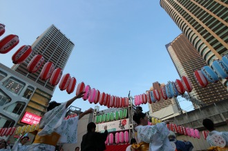7月25日にこすぎコアパークで開催された「こすぎ夏祭」