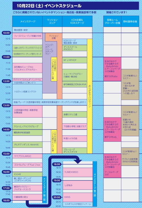 本祭1日目のイベントスケジュール