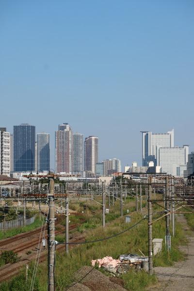 跨線橋東側から見た武蔵小杉の高層ビル群