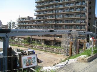 上丸子跨線橋で整備済みの仮管路
