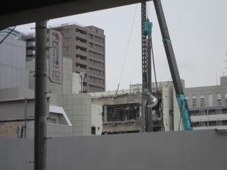 旧中原市民館の解体