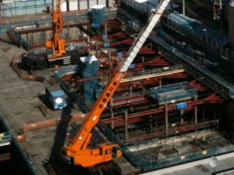 45階建てタワーマンションの基礎工事