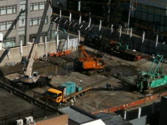 13階建てマンションの建設地(旧中原市民館跡地)
