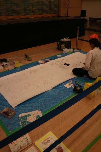 絵描き屋みかんによるライブペインティング