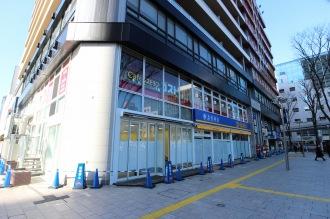 小杉ビルディング1階の「auショップ武蔵小杉北口」オープン予定地