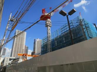 建設が進むプラウドタワー武蔵小杉