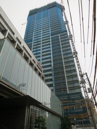 小杉町3丁目中央地区に建設中のプラウドタワー武蔵小杉
