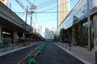 完成に近づく都市計画道路
