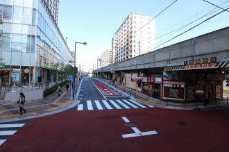 「餃子の王将」前の都市計画道路接続予定地