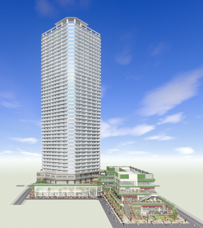 小杉町3丁目東地区の再開発ビル