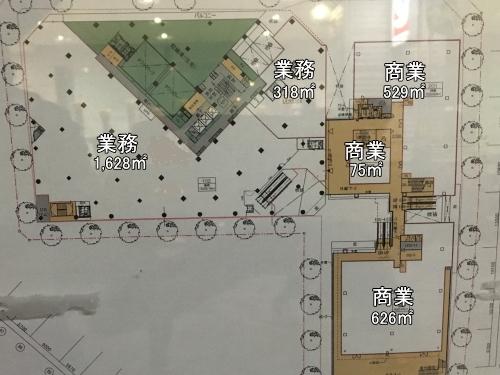 再開発ビルの平面図(2階)