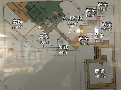 商業施設3階の平面図(3階)