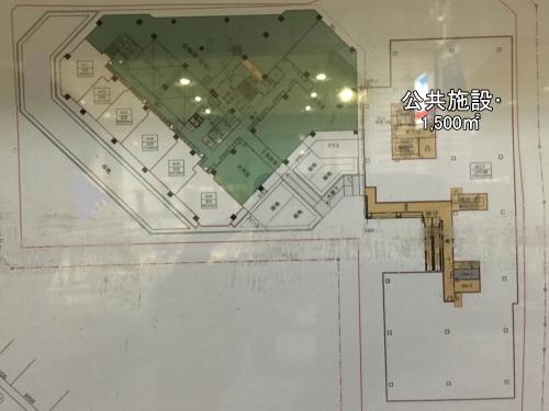再開発ビルの平面図(4階)