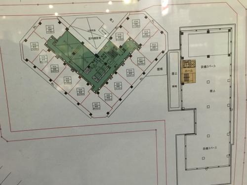 再開発ビルの平面図(5階)