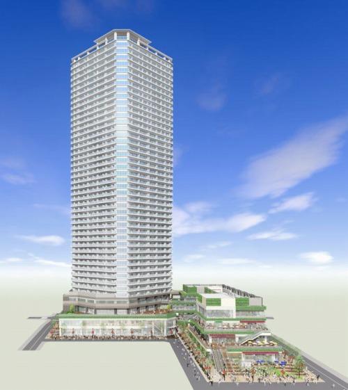 小杉町3丁目東地区第一種市街地再開発事業のイメージパース