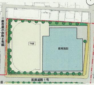 (仮称)大西学園建て替え計画の配置計画
