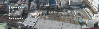 武蔵小杉駅南口地区西街区の俯瞰