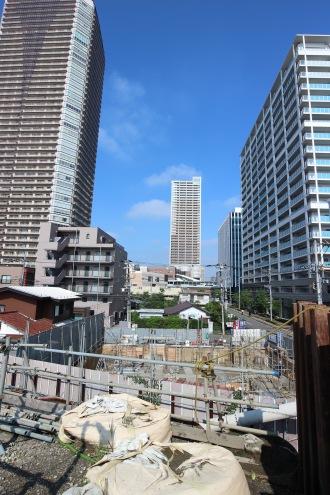 上丸子跨線橋から見た建設現場