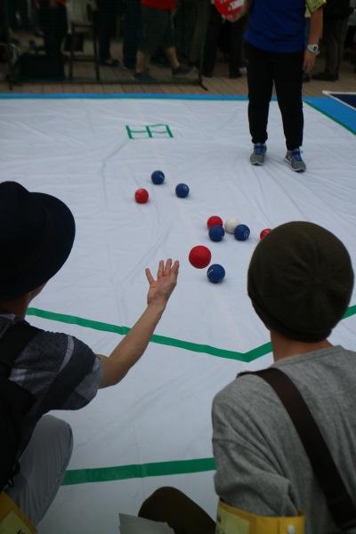 パラスポーツ体験「ボッチャ」