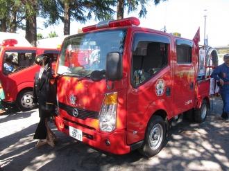 消防車と消防服体験