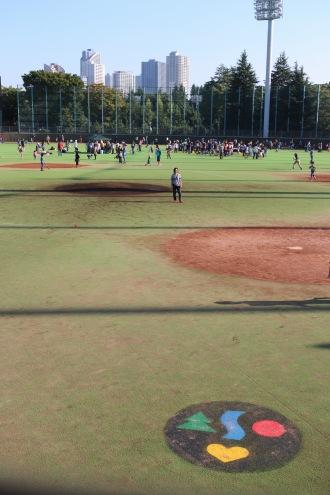野球場の「ふれあい広場」