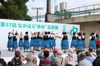 中原老人クラブ連合会の民謡踊