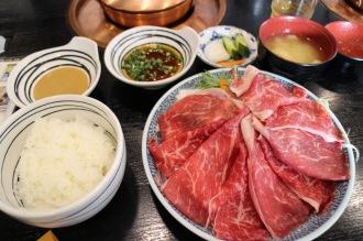国産牛しゃぶしゃぶランチ(1,300円)