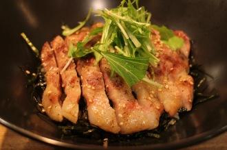 岩中ポークのグリル丼(1,080円)
