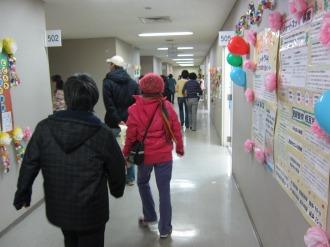 中原区役所5階の廊下