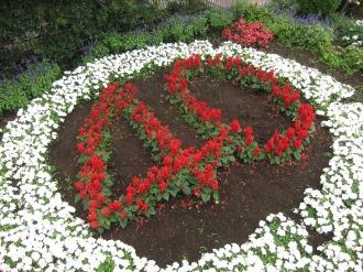 2012年「中原区制40周年」のデザイン花壇