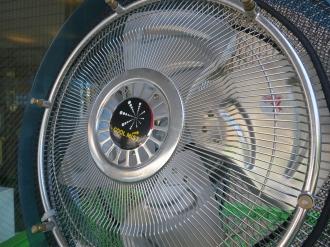「ミスト冷却システム」の羽部分