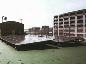 中原区役所屋上の太陽光発電パネル